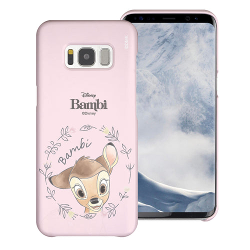 Galaxy S7 Edge Case [Slim Fit] Disney Bambi Thin Hard Matte Surface Excellent Grip Cover - Face Bambi