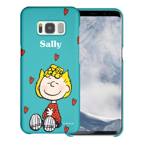 Galaxy S8 Plus Case [Slim Fit] PEANUTS Thin Hard Matte Surface Excellent Grip Cover - Sally Heart Sit