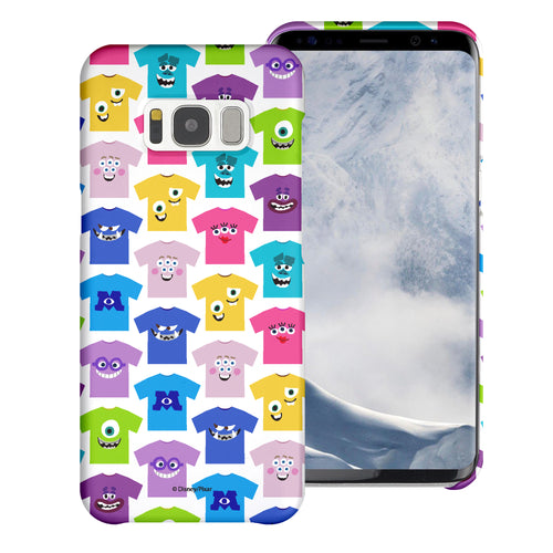 Galaxy S8 Plus Case [Slim Fit] Monsters University inc Thin Hard Matte Surface Excellent Grip Cover - Pattern Shirts