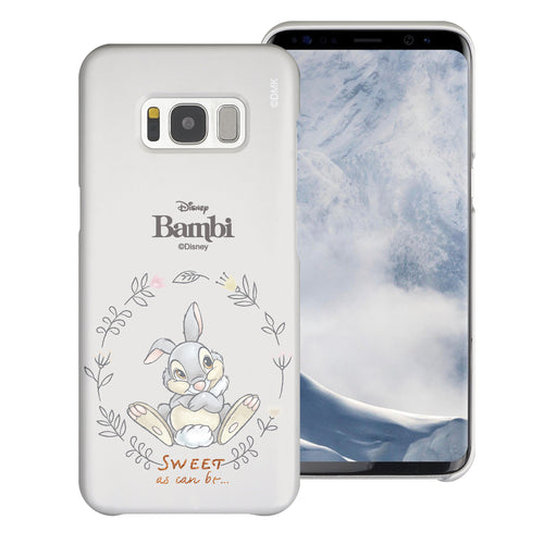 Galaxy S8 Case (5.8inch) [Slim Fit] Disney Bambi Thin Hard Matte Surface Excellent Grip Cover - Full Thumper