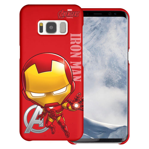 Galaxy S6 Case (5.1inch) Marvel Avengers [Slim Fit] Thin Hard Matte Surface Excellent Grip Cover - Mini Iron Man