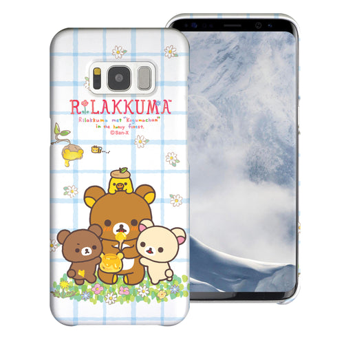 Galaxy Note4 Case [Slim Fit] Rilakkuma Thin Hard Matte Surface Excellent Grip Cover - Rilakkuma Honey