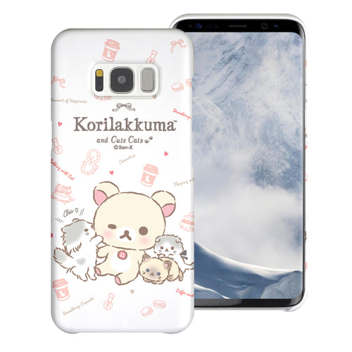 Galaxy S8 Plus Case [Slim Fit] Rilakkuma Thin Hard Matte Surface Excellent Grip Cover - Korilakkuma Cat
