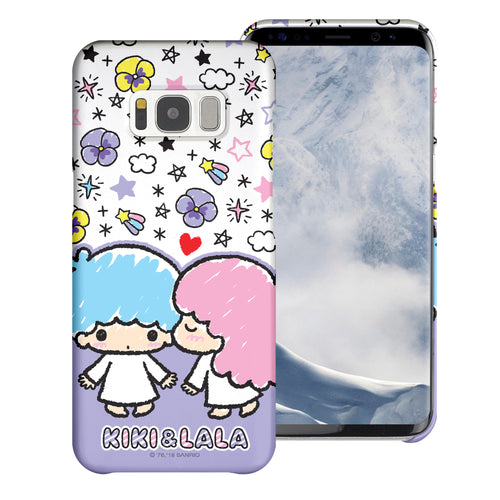 Galaxy S6 Edge Case [Slim Fit] Sanrio Thin Hard Matte Surface Excellent Grip Cover - Kiss Little Twin Stars
