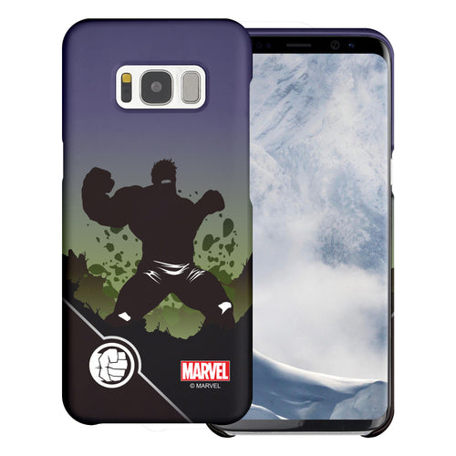 Galaxy S6 Case (5.1inch) Marvel Avengers [Slim Fit] Thin Hard Matte Surface Excellent Grip Cover - Shadow Hulk