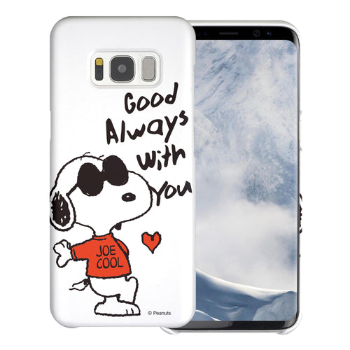 Galaxy S8 Plus Case [Slim Fit] PEANUTS Thin Hard Matte Surface Excellent Grip Cover - Snoopy Love Red