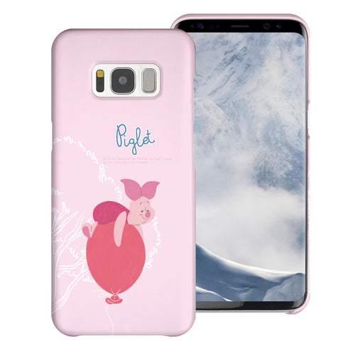Galaxy Note5 Case [Slim Fit] Disney Pooh Thin Hard Matte Surface Excellent Grip Cover - Balloon Piglet