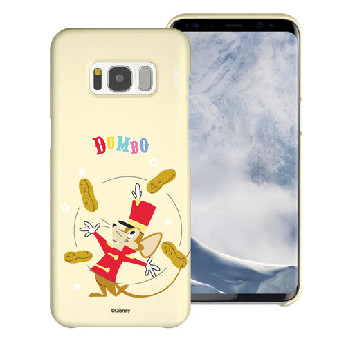 Galaxy S8 Case (5.8inch) [Slim Fit] Disney Dumbo Thin Hard Matte Surface Excellent Grip Cover - Dumbo Timothy