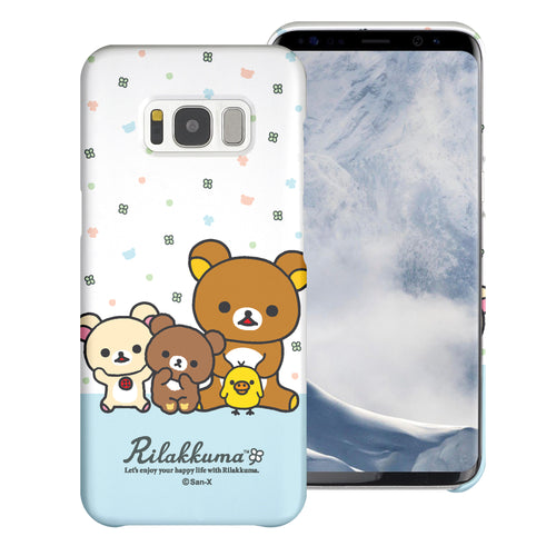 Galaxy S8 Plus Case [Slim Fit] Rilakkuma Thin Hard Matte Surface Excellent Grip Cover - Rilakkuma Friends