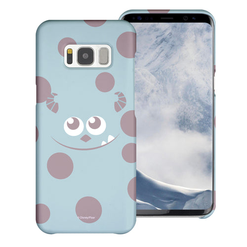 Galaxy S8 Plus Case [Slim Fit] Monsters University inc Thin Hard Matte Surface Excellent Grip Cover - Face Sulley