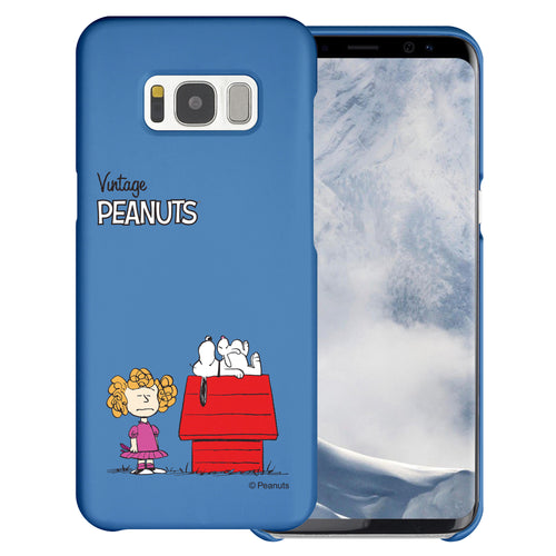 Galaxy S8 Plus Case [Slim Fit] PEANUTS Thin Hard Matte Surface Excellent Grip Cover - Small Snoopy House