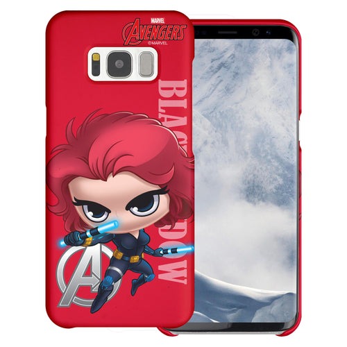 Galaxy S6 Edge Case Marvel Avengers [Slim Fit] Thin Hard Matte Surface Excellent Grip Cover - Mini Black Widow