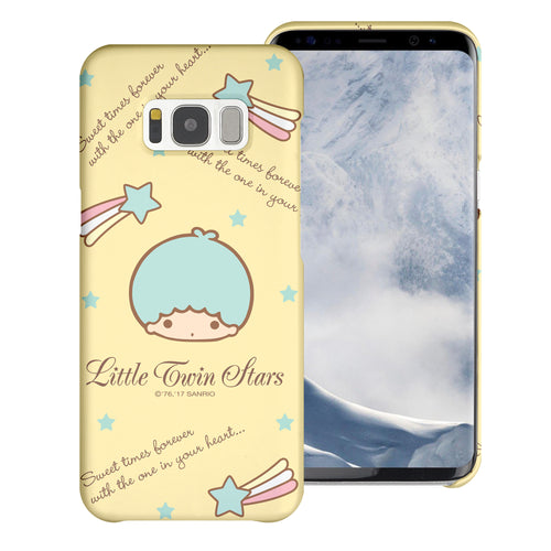 Galaxy S6 Edge Case [Slim Fit] Sanrio Thin Hard Matte Surface Excellent Grip Cover - Icon Little Twin Stars Kiki
