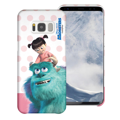 Galaxy S8 Plus Case [Slim Fit] Monsters University inc Thin Hard Matte Surface Excellent Grip Cover - Movie Boo