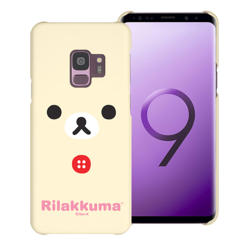 Galaxy S9 Plus Case [Slim Fit] Rilakkuma Thin Hard Matte Surface Excellent Grip Cover - Face Korilakkuma
