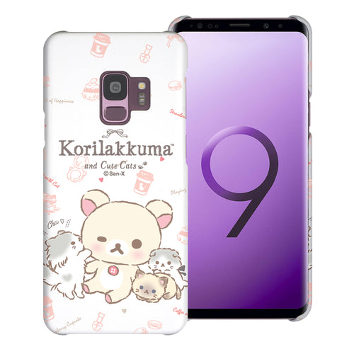Galaxy S9 Case (5.8inch) [Slim Fit] Rilakkuma Thin Hard Matte Surface Excellent Grip Cover - Korilakkuma Cat
