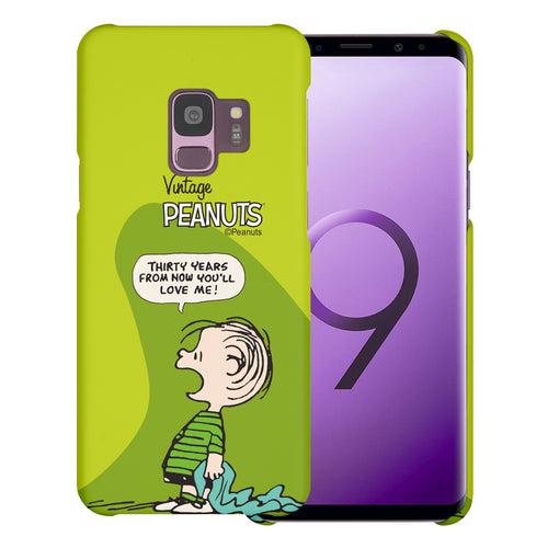 Galaxy S9 Case (5.8inch) [Slim Fit] PEANUTS Thin Hard Matte Surface Excellent Grip Cover - Cartoon Linus