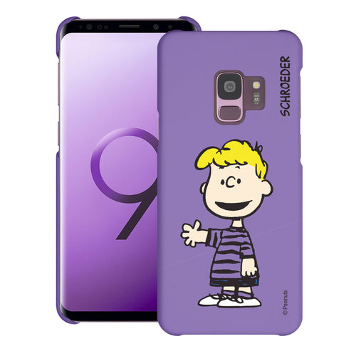 Galaxy S9 Case (5.8inch) [Slim Fit] PEANUTS Thin Hard Matte Surface Excellent Grip Cover - Smile Schroeder