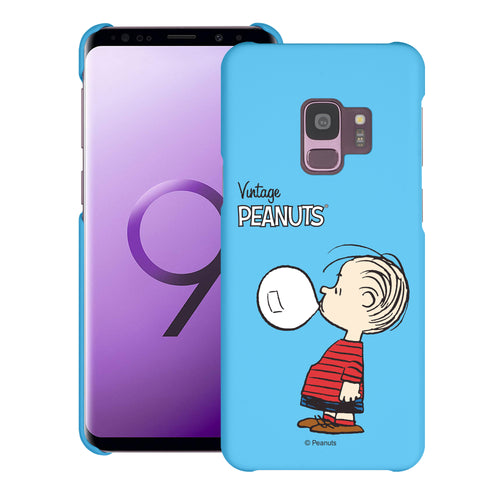 Galaxy S9 Case (5.8inch) [Slim Fit] PEANUTS Thin Hard Matte Surface Excellent Grip Cover - Simple Linus