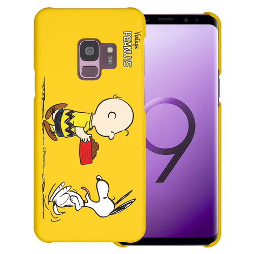 Galaxy S9 Case (5.8inch) [Slim Fit] PEANUTS Thin Hard Matte Surface Excellent Grip Cover - Cute Snoopy Food