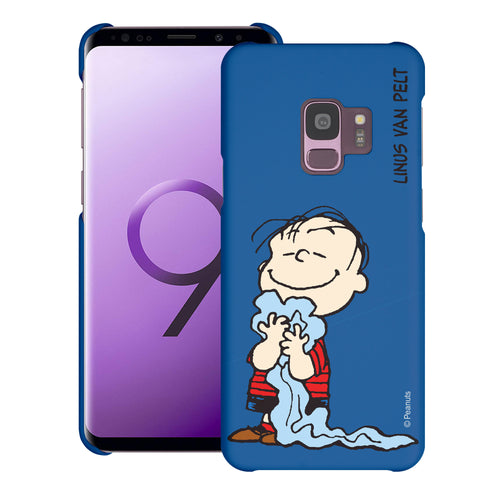 Galaxy S9 Case (5.8inch) [Slim Fit] PEANUTS Thin Hard Matte Surface Excellent Grip Cover - Smile Linus