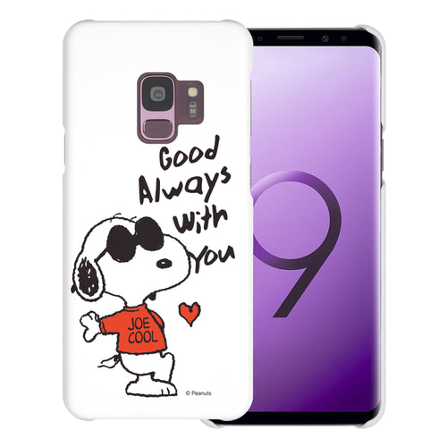Galaxy S9 Case (5.8inch) [Slim Fit] PEANUTS Thin Hard Matte Surface Excellent Grip Cover - Snoopy Love Red