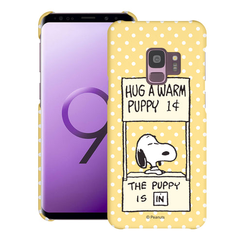 Galaxy S9 Case (5.8inch) [Slim Fit] PEANUTS Thin Hard Matte Surface Excellent Grip Cover - Hug Warm Snoopy