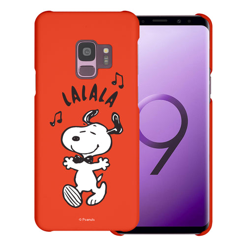 Galaxy S9 Case (5.8inch) [Slim Fit] PEANUTS Thin Hard Matte Surface Excellent Grip Cover - Snoopy Lalala