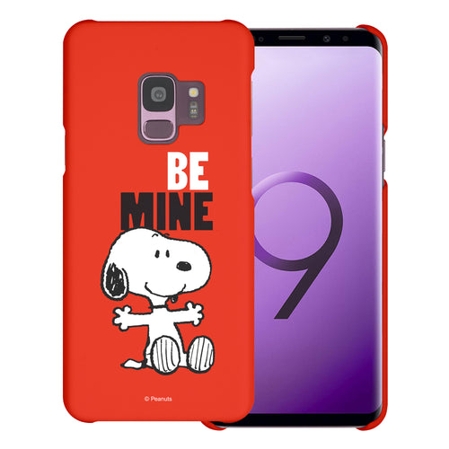 Galaxy S9 Case (5.8inch) [Slim Fit] PEANUTS Thin Hard Matte Surface Excellent Grip Cover - Snoopy Be Mine Red
