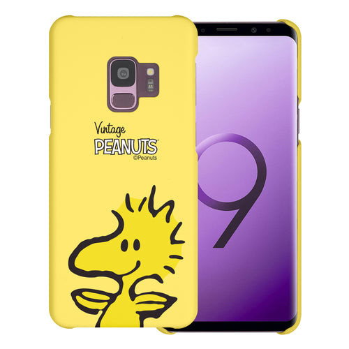 Galaxy S9 Case (5.8inch) [Slim Fit] PEANUTS Thin Hard Matte Surface Excellent Grip Cover - Face Woodstock