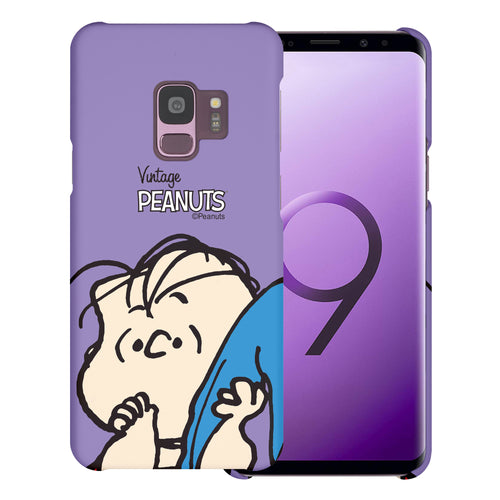 Galaxy S9 Case (5.8inch) [Slim Fit] PEANUTS Thin Hard Matte Surface Excellent Grip Cover - Face Linus