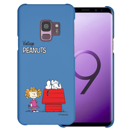 Galaxy S9 Case (5.8inch) [Slim Fit] PEANUTS Thin Hard Matte Surface Excellent Grip Cover - Small Snoopy House