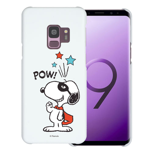 Galaxy S9 Case (5.8inch) [Slim Fit] PEANUTS Thin Hard Matte Surface Excellent Grip Cover - Snoopy Pow Mint