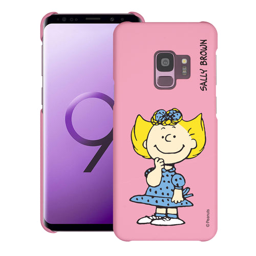 Galaxy S9 Case (5.8inch) [Slim Fit] PEANUTS Thin Hard Matte Surface Excellent Grip Cover - Smile Sally