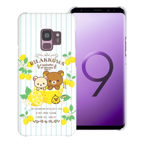 Galaxy S9 Plus Case [Slim Fit] Rilakkuma Thin Hard Matte Surface Excellent Grip Cover - Rilakkuma Lemon