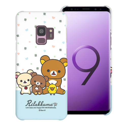 Galaxy S9 Plus Case [Slim Fit] Rilakkuma Thin Hard Matte Surface Excellent Grip Cover - Rilakkuma Friends