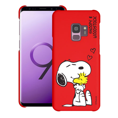 Galaxy S9 Case (5.8inch) [Slim Fit] PEANUTS Thin Hard Matte Surface Excellent Grip Cover - Smile Snoopy