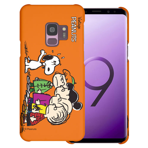 Galaxy S9 Case (5.8inch) [Slim Fit] PEANUTS Thin Hard Matte Surface Excellent Grip Cover - Cute Snoopy Friends