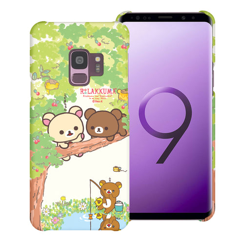 Galaxy S9 Plus Case [Slim Fit] Rilakkuma Thin Hard Matte Surface Excellent Grip Cover - Rilakkuma Forest