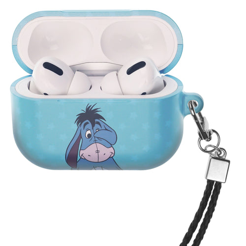 Disney AirPods Pro Case Neck Lanyard Hard PC Shell Strap Hole Cover - Hide Eeyore
