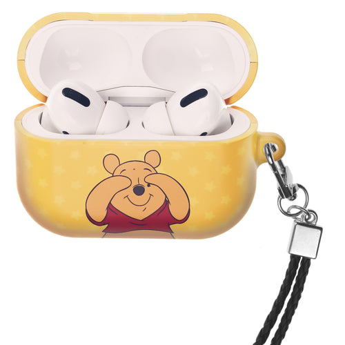 Disney AirPods Pro Case Neck Lanyard Hard PC Shell Strap Hole Cover - Hide Pooh
