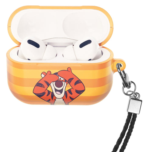 Disney AirPods Pro Case Neck Lanyard Hard PC Shell Strap Hole Cover - Hide Tigger