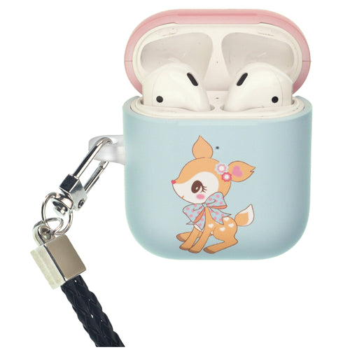 Sanrio AirPods Case Neck Lanyard Protective Hard PC Shell Strap Hole Cover - Hummingmint