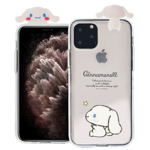 iPhone 11 Case (6.1inch) Cinnamoroll Cute Figure Doll Soft Jelly Cover for - Figure Cinnamoroll