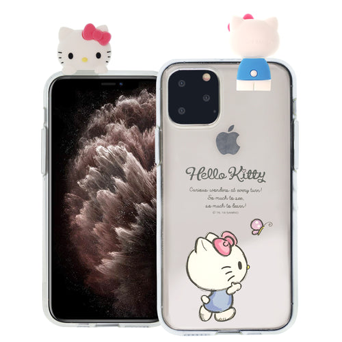 iPhone 11 Case (6.1inch) Hello Kitty Cute Figure Doll Soft Jelly Cover for - Figure Hello Kitty Walking