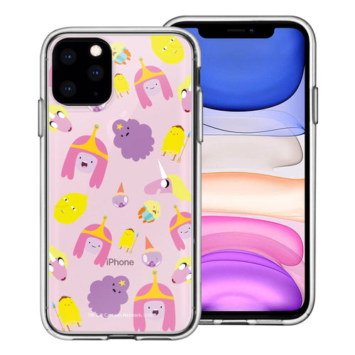 iPhone 11 Pro Max Case (6.5inch) Adventure Time Clear TPU Cute Soft Jelly Cover - Cuty Pattern Pink