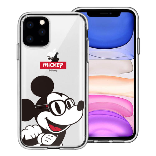iPhone 11 Pro Max Case (6.5inch) Disney Clear TPU Cute Soft Jelly Cover - Glasses Mickey Mouse