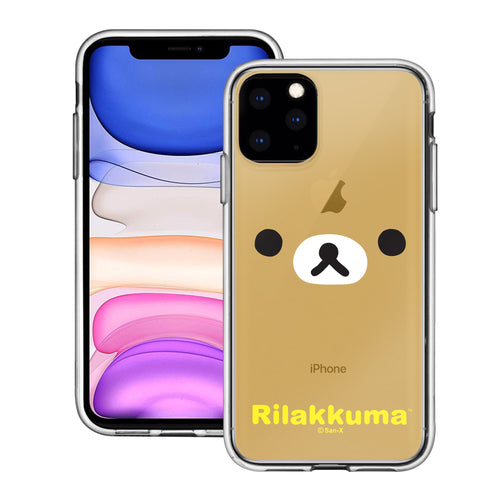iPhone 11 Pro Max Case (6.5inch) Rilakkuma Clear TPU Cute Soft Jelly Cover - Face Rilakkuma