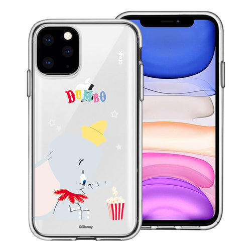 iPhone 11 Pro Max Case (6.5inch) Disney Clear TPU Cute Soft Jelly Cover - Dumbo Popcorn