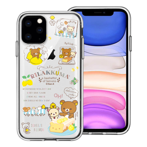 iPhone 11 Pro Max Case (6.5inch) Rilakkuma Clear TPU Cute Soft Jelly Cover - Rilakkuma Cooking